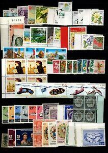 Br Commonwealth 70 MNH (U/M) stamps incl Eire, NZ, Canada, Gibraltar, Burma etc