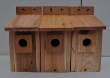 3 WESTERN BLUEBIRD BIRD HOUSES NEST..HOLE SIZE 1 1/2 ....5/8 cedar
