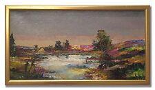 KARIN BORGSTRÖM / THE STREAM - Original Swedish Oil Painting
