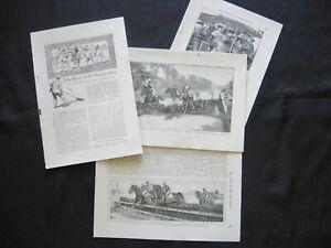 1905 STEEPLECHASE Horse Racing Sport Vtg Illus.Print Article~Parkhurst Pulp Art!