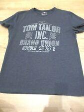 Tom Tailor   T-Shirt Shirt  m. Druck, grau blau    Gr.  L, wie NEU