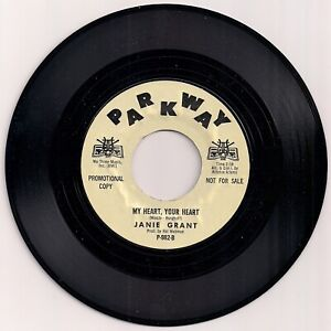NORTHERN SOUL 45 JANIE GRANT - MY HEART YOUR HEART - PARKWAY - 1970s REISSUE