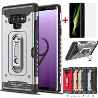For Samsung Galaxy Note 9/S10/S10 Plus Shockproof Card Slot Armor TPU Case Cover