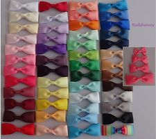 Pair of Single Bow Hair clips (2 clips) -4 different sizes to choose from...