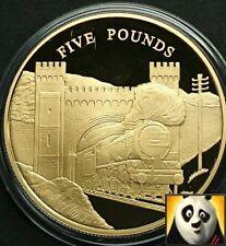 Camiseta de Jersey de 2006 £ 5 cinco libras edad de vapor locomotora de plata y oro plateado moneda de prueba