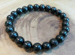 Shungite Bracelet 8 mm Stones Shungite Stretch Bracelet Bead Bracelet Gift
