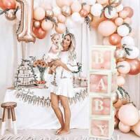 4X boîte de ballon en carton transparent décoration de noël anniversaire bébé T2
