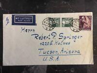 1953 Gorlitz East Germany DDR Airmail Cover To Tucson Az USA
