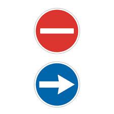Stickers plastifiés FLECHE & SENS INTERDIT - Portes automatiques  - 9cm x 9cm