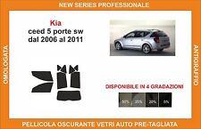 pellicola oscurante vetri pre-tagliata Kia ceed 5p sw dal 2006-11 kit completo