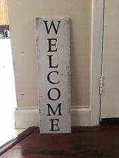 Large Rustic Front Door Porch Shabby Vertical Wooden Welcome Sign Gift, HGTV,