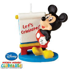 NEW! Wilton ***MICKEY MOUSE CLUBHOUSE CANDLE*** NIP!!