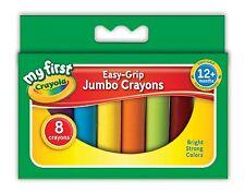 Crayola MON PREMIER easy grip 8 Jumbo Crayons de cire-idéal pour les petites mains - 81-8103