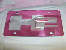 H2 Hummer Laser License Plate Pink/Silver NEW!!