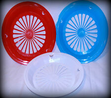 RED, WHITE, & BLUE  PAPER PLATE HOLDERS, PICNIC & BBQ