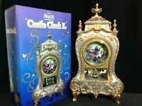 RARE NEW Disney Castle Clock L Alice In Wonderland 30cm(11.8inch) from JAPAN #2
