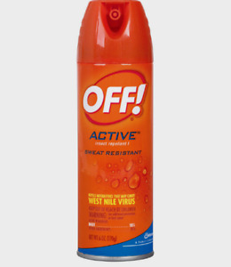 OFF ACTIVE INSECT REPELLENT SPRAY Mosquito Fleas Flies Sweat Resis 6 oz 01810