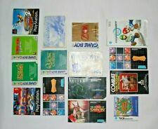 JOBLOT Video Game Manuals Games Bundle Nintendo Game Boy SEGA PS1 DS