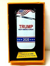 Trump 2020 Windproof Electronic Rechargeable Torch Cigarette Lighter