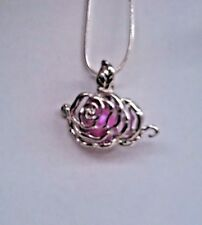 Make a Wish Pearl Cage Pendant Necklace - Rose - 925 Chain+Pearl Included