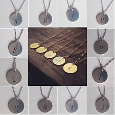 CH Creative Initial Necklace Personalized Discs Charm Custom Letter Jewelry