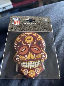 Washington Football Team Sugar Skull Magnet