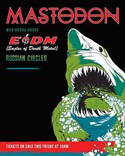 MASTODON / EAGLES OF DEATH METAL 2017 NORTH AMERICAN CONCERT TOUR POSTER - Metal