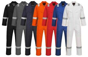 Portwest Flame Resistant Anti-Static Coverall 350g Welding Work Wear Safety FR50
