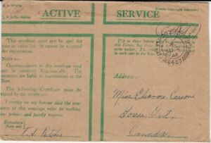 Canada Free Frank Field PO Cover, Anti-Aircraft Rgt, from FPO #385 - ph132