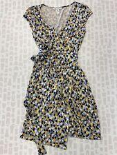 Diane Von Furstenberg Women Blue Lightweight Spring Wrap Dress Size 8