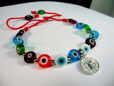 Evil Eye Glass Bead Feng Shui Protection Good Luck Bracelet Jewelry Turkish Blue