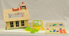 Vintage Fisher Price Toy House - Model 923 - with assorted toys/accessories