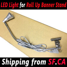 Display Light Banner Stand Lamp Retractable Roll Up Trade Show Booth
