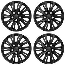 16 Set Of 4 Black Wheel Covers Snap On Full Hub Caps Fits R16 Tire Amp Steel Rim Fits Toyota