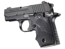 Hogue Grip For A SIG Sauer P238 Ambi Safety - Rubber Finger Groove Black 38080