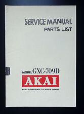 AKAI GXC-709D Original Service-Manual/Service-Anleitung/Schaltplan + Parts List