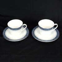 Royal Doulton Sherbrooke China H5009 Pattern Cup And Saucer Set of 2