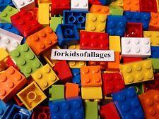 Lego Bricks Blocks ALL 2X2 & 2x3 Studs 80 Pc. Lot DIY Spell Spelling Homeschool