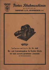 FRANKFURT/M., Katalog, Protos Schuh-Maschinen 649, W. Ullrich KG Näh-Maschinen