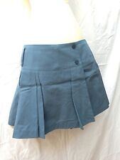 Designer Patrizia Pepe Firenze Italy S 42 Blue Asymmetrical Pleated Wrap Skirt