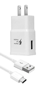 Wall Charger Type-C USB Cable Adaptive Charging For Samsung Galaxy S10 S9+ S8 N9