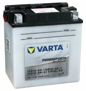 Batería para motocicleta Varta Freshpack, 12 V 11 Ah YB10L-A2