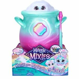 New, Magic Mixies Magical Misting Cauldron with Interactive Pink Toy, Rainbow!