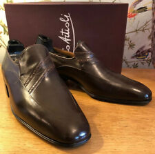 ARTIOLI Kangaroo Leather Shark Skin Apron Handmade Italian Shoes NEW 10.5 UK