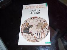 Poétique du récit. Roland Barthes. W.Kayser