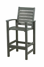 POLYWOOD 1912 GY Signature Bar Chair In Slate Grey NEW