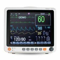 "12.1"" Patient Monitor Vital Signs SpO2,PR,NIBP,ECG,RESP,TEMP Multi-parameter FDA"