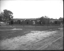 N367 1900S GLASS NEGATIVE..RUINS HISTORIC BUILDING OLD TOWN SAN DIEGO CALIFORNIA