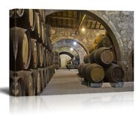 "Canvas Prints Wall Art - Cellar with Wine Barrels | Modern Wall Decor- 24"" x 36"""