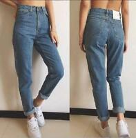 Women's Pencil Stretch Denim Skinny Slim Jeans Pants High Waist Jeans Trousers